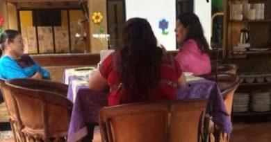 En plena cuarentena alcaldesa de SCLC desayuna en restaurante